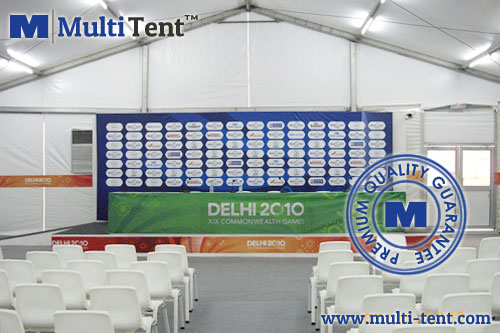 press room tent